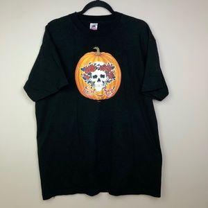 VTG Grateful Dead 1989 T Shirt L/XL Pumpkin Mikio